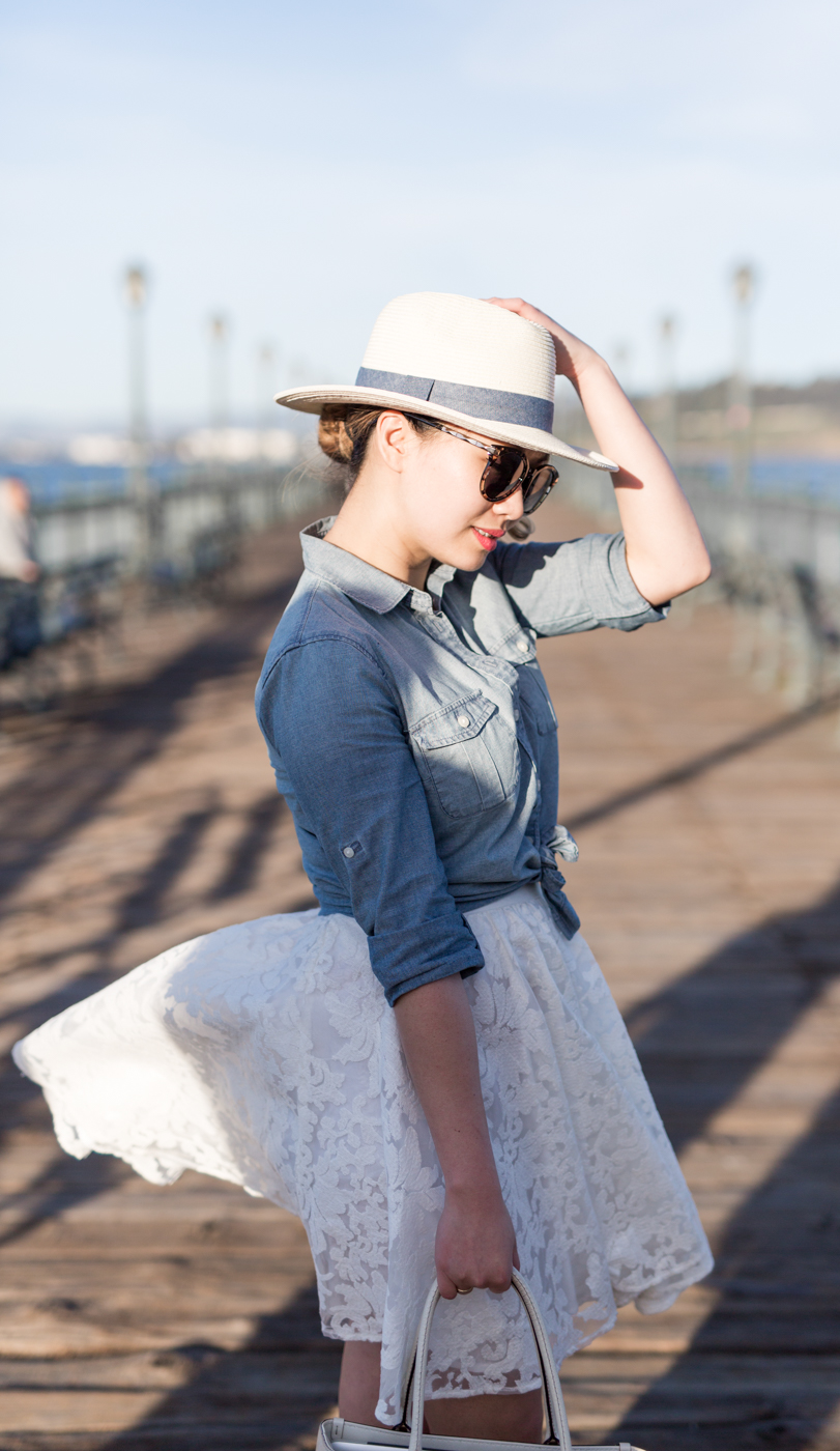 Forever 21 White Lace Skirt | The Chic Diary