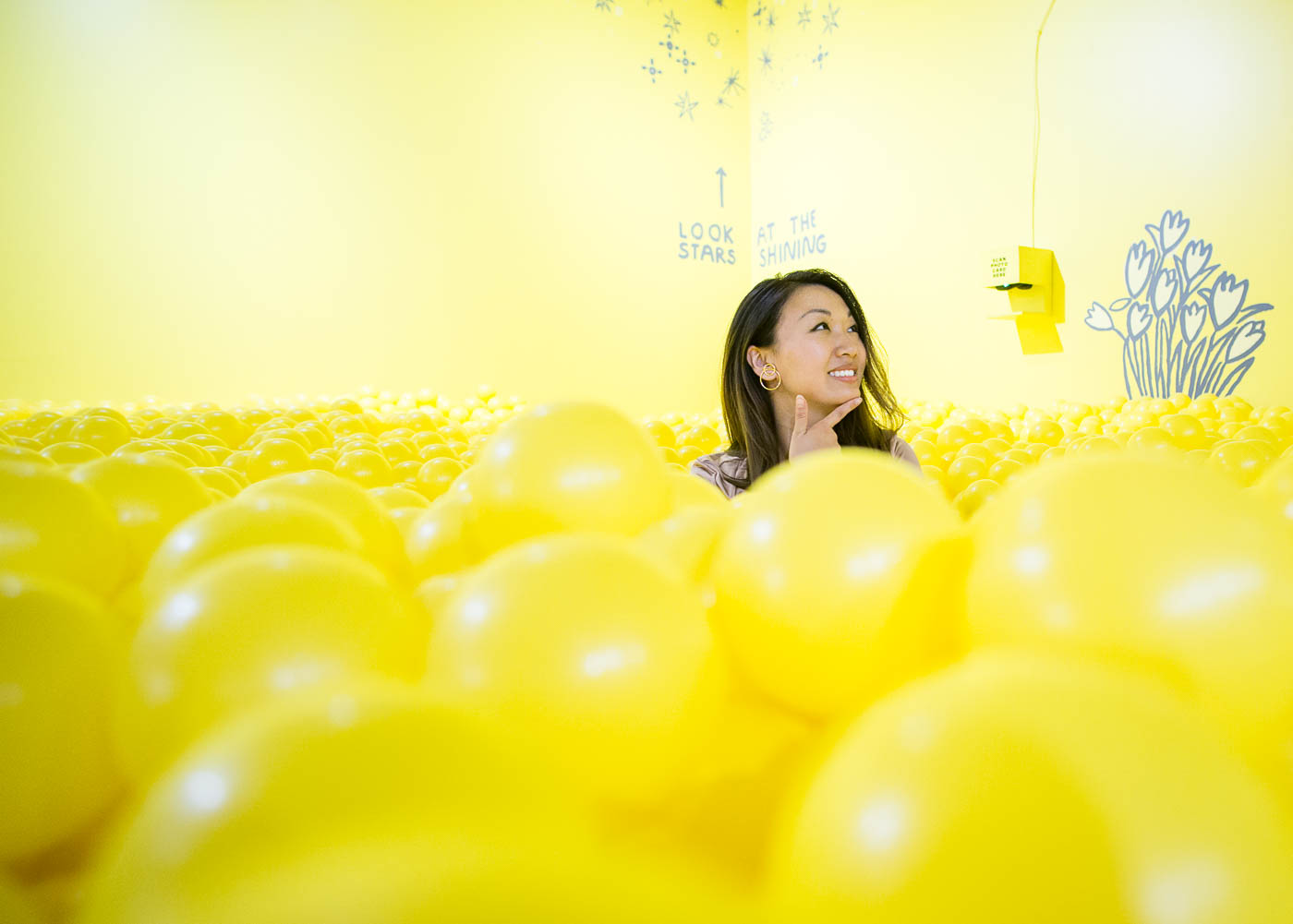 Color Factory SF - Yellow Ball Pit Room | The Chic Diary