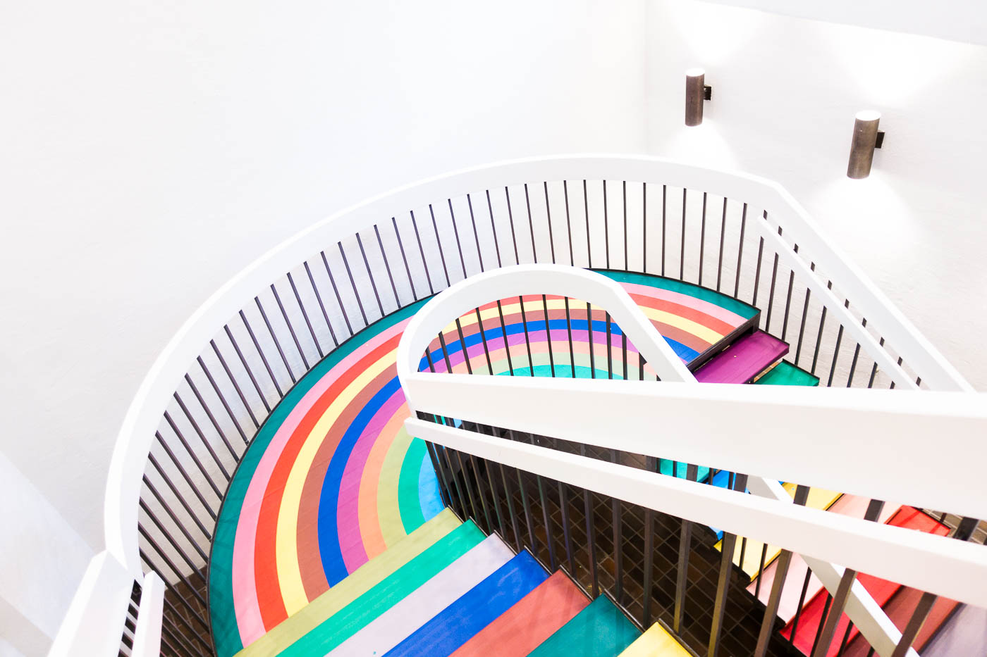 Color Factory SF - Rainbow Staircase | The Chic Diary.jpg