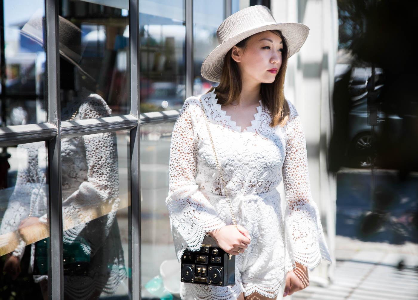 Janessa Leone Gray Bolero Hat | The Chic Diary