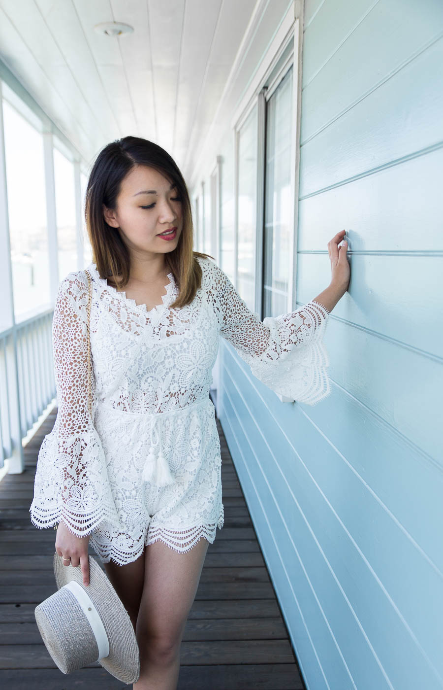 Garden Crochet Playsuit with Bell Sleeves 2 | The Chic Diary