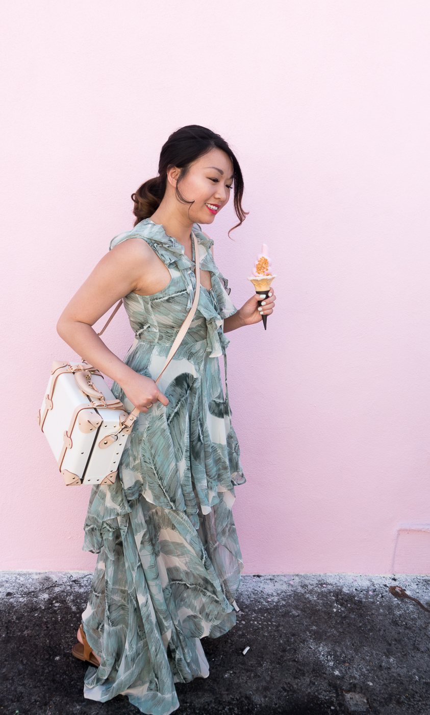 Lulu's Palm Print High-Low Dress | The Chic Diary