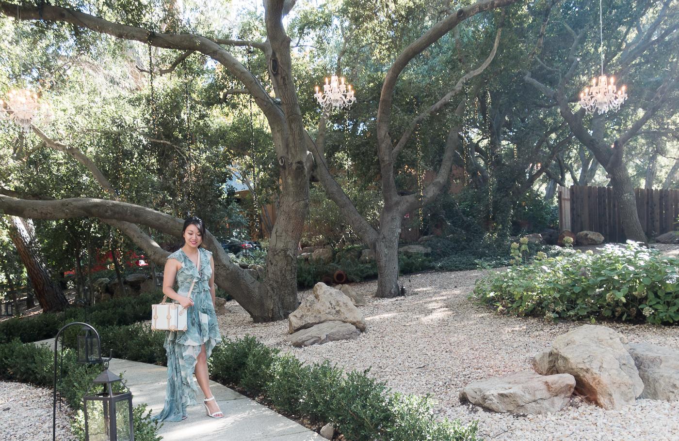 Calamigos Ranch Malibu Wedding - Lulu's Sage Green High-Low Dress | The Chic Diary