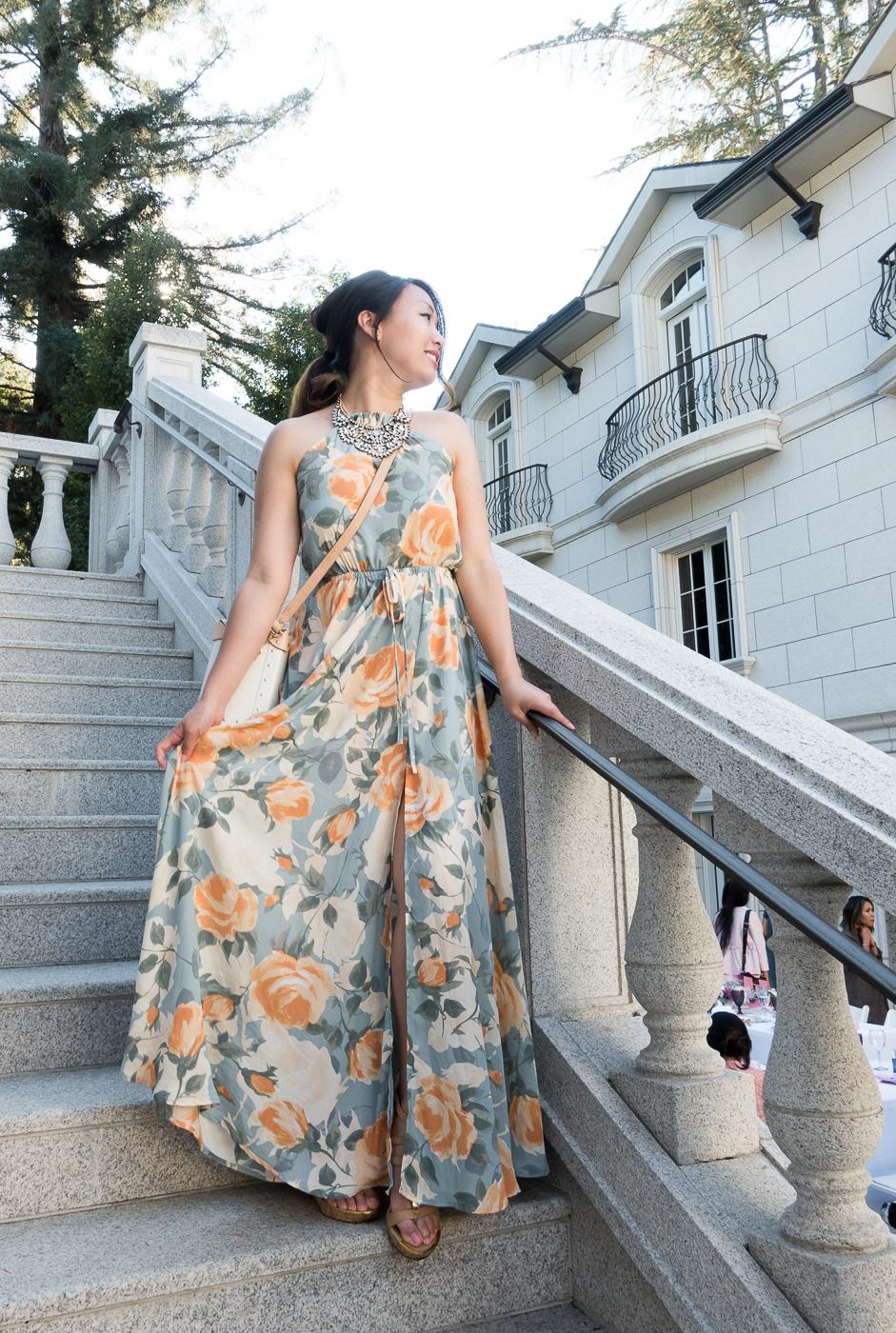 Lulu's Precious Memories Light Blue & Peach Floral Maxi Dress   The Chic Diary