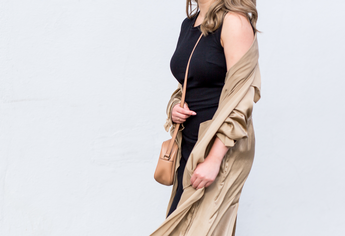 Aritzia Gold Mercier Duster Jacket | The Chic Diary