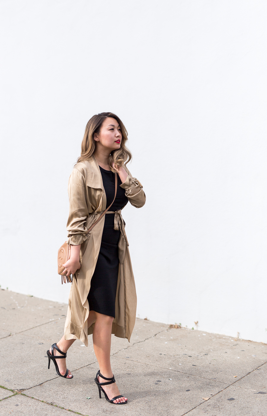 Aritzia Gold Duster Jacket | The Chic Diary