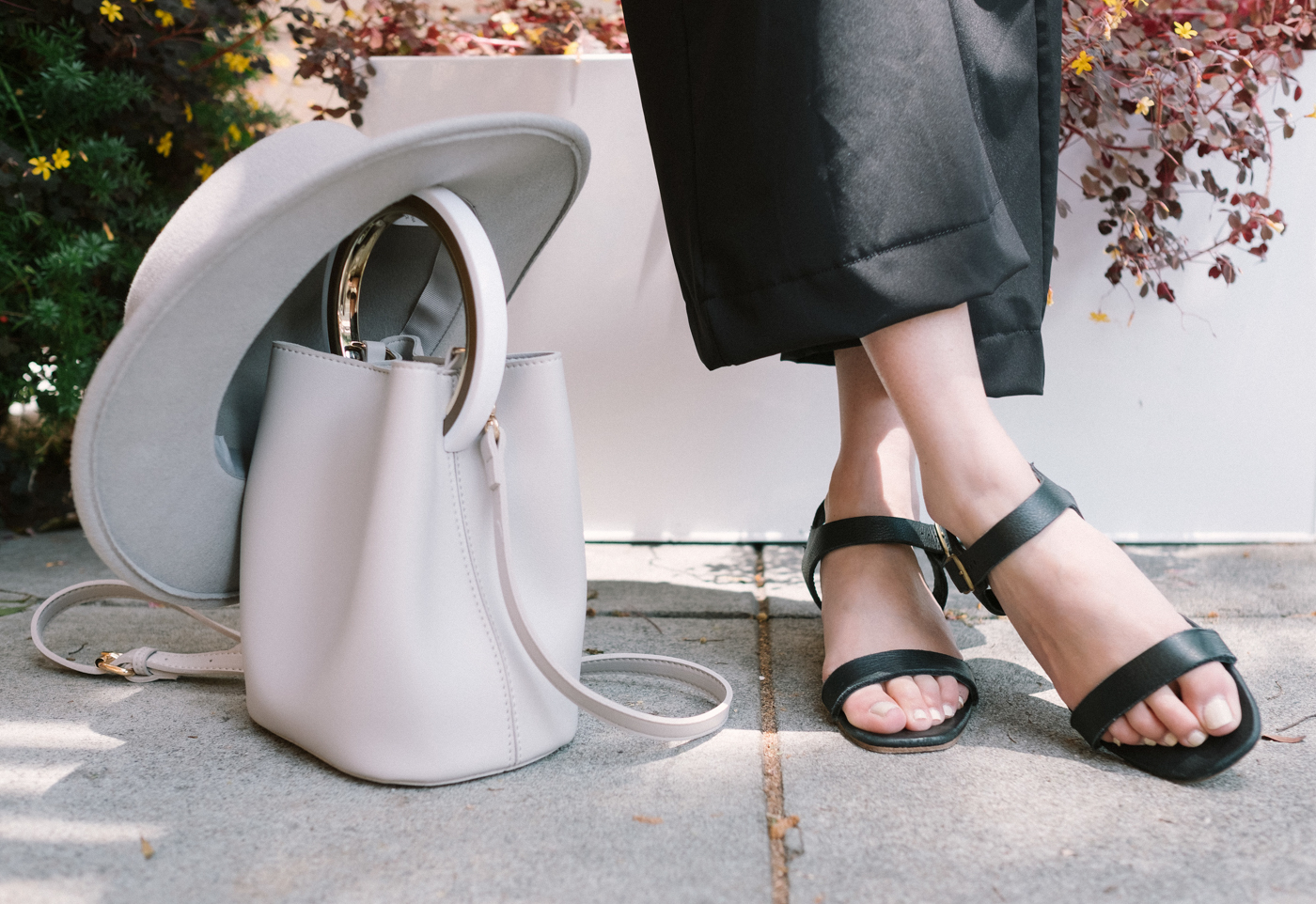 St. Agni Leather Wood-block Sandals | The Chic Diary