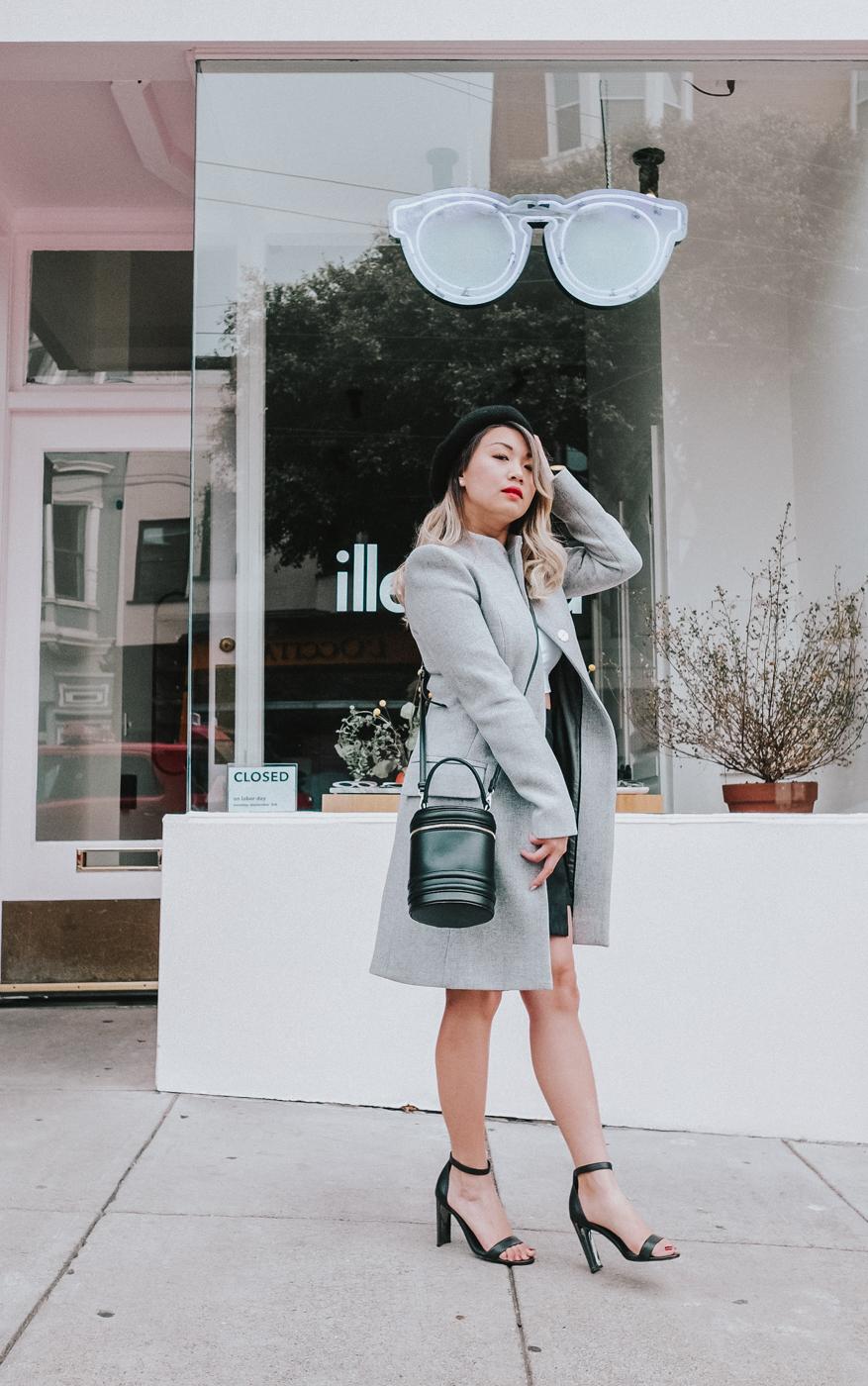Cue Grey Melange Wool Coat   The Chic Diary