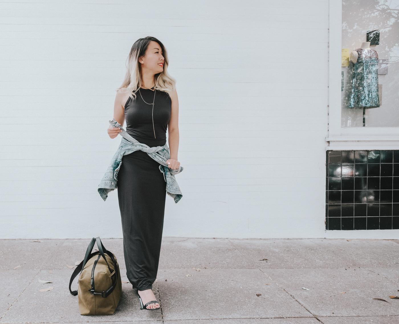 Grana Pima Racerfront Maxi Dress | The Chic Diary