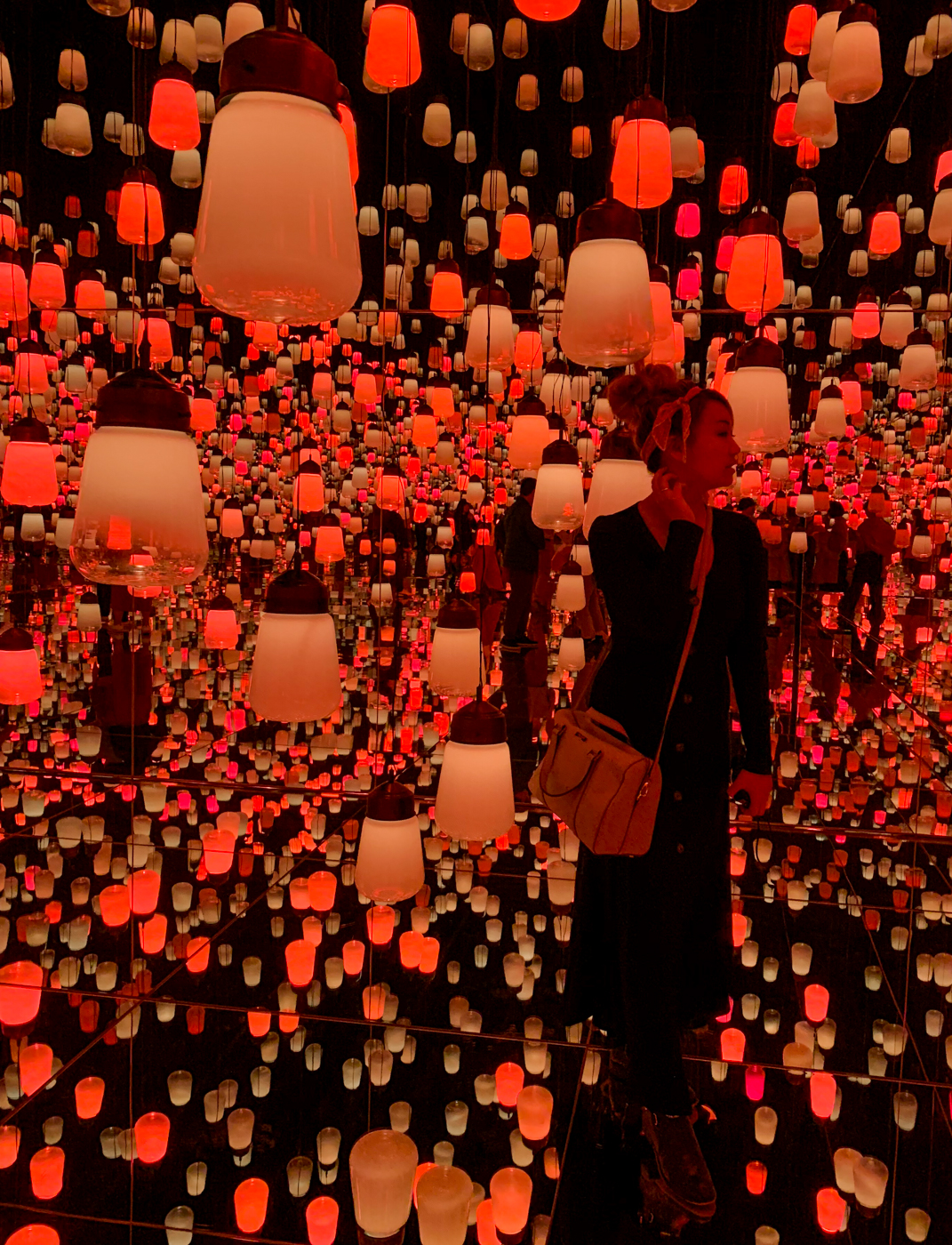 TeamLab Borderless Exhibit - Forest of Resonating Lamps