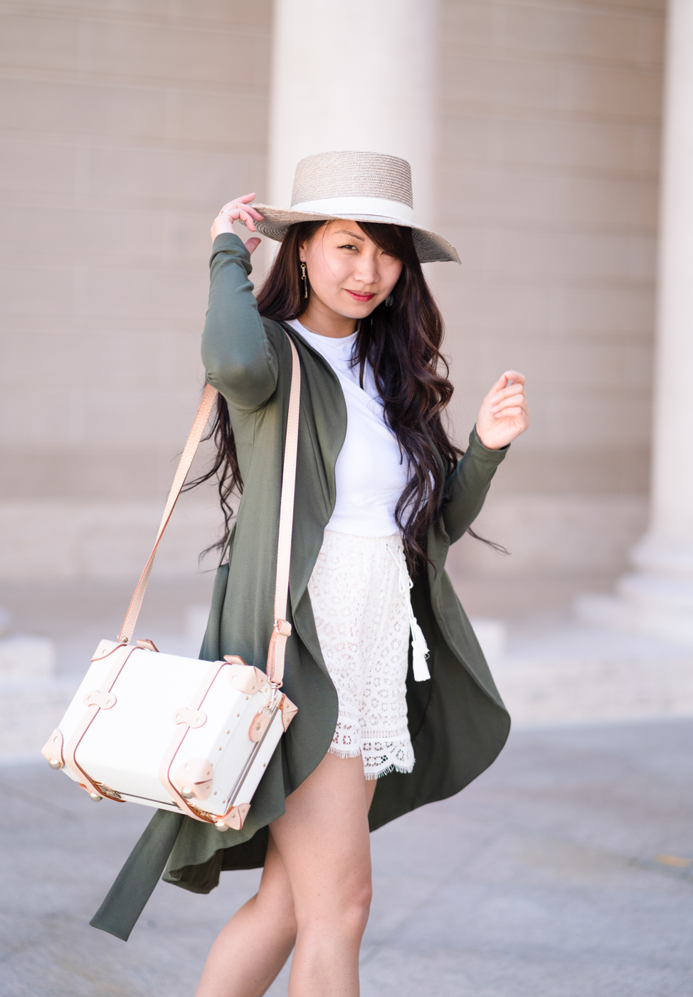 Ethical Fashion | Janessa Leone bolero hat & La Fille Colette Portmanteau Jacket | The Chic Diary