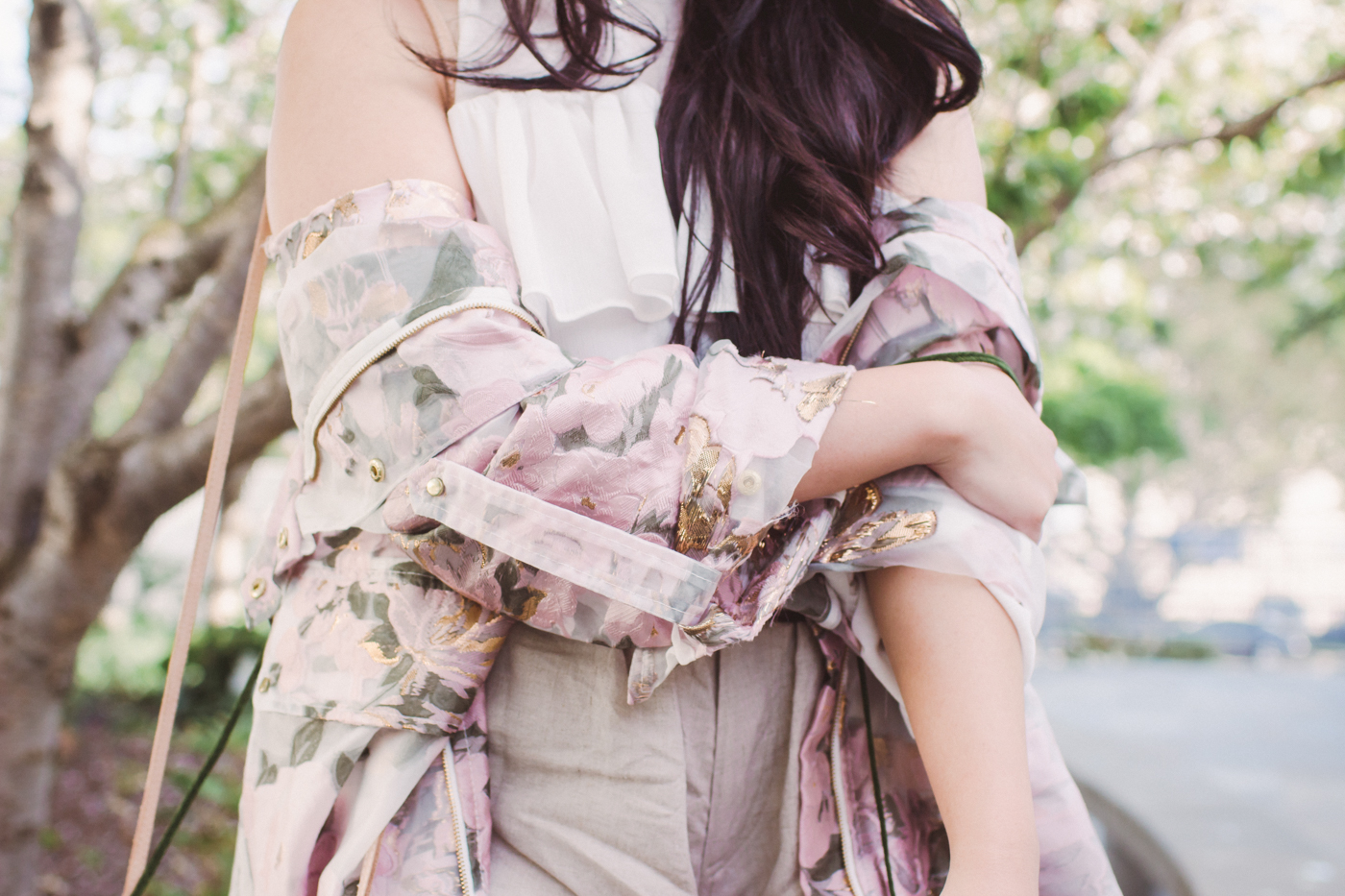 We Are Kindred Floral Anorak Details | The Chic Diary