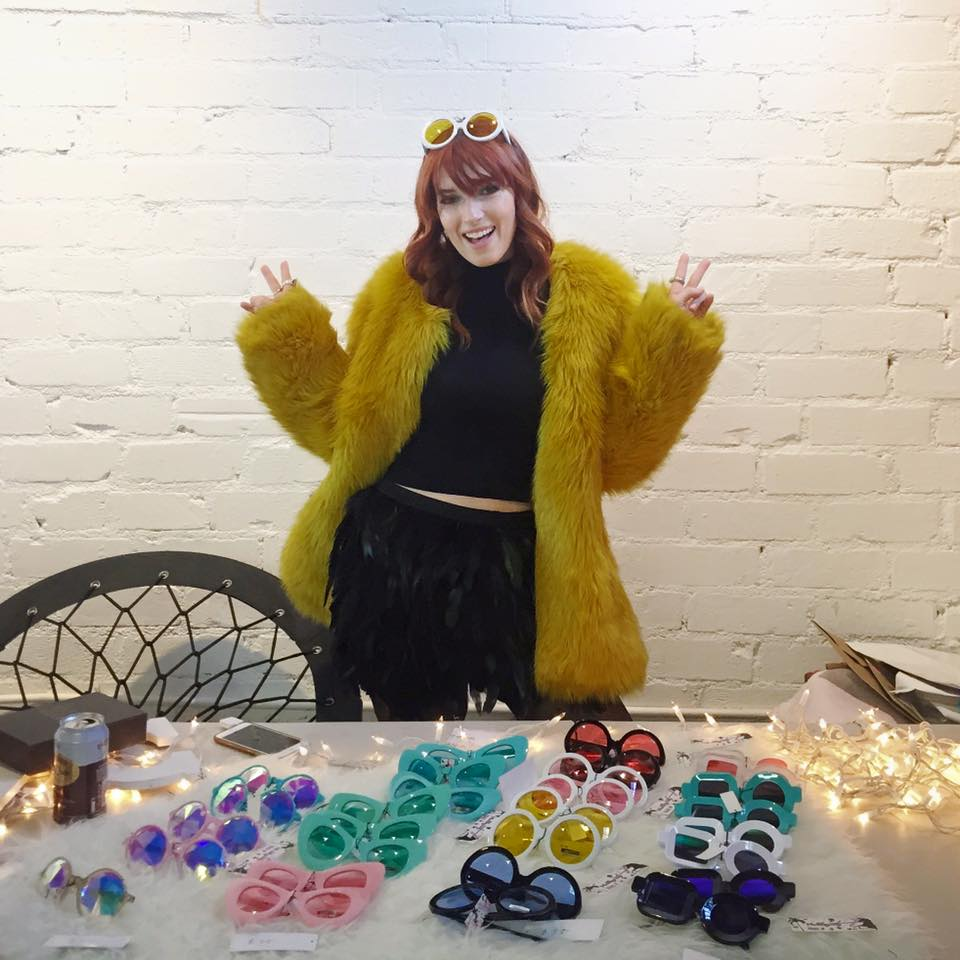 Blogger Dani Thorne manning her booth Valley City