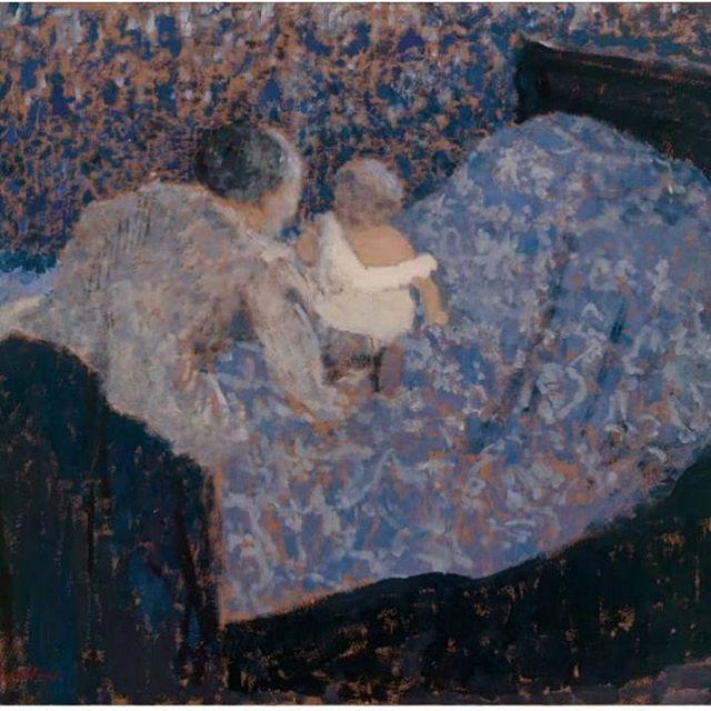 🌞#Vuillard #blue #bed