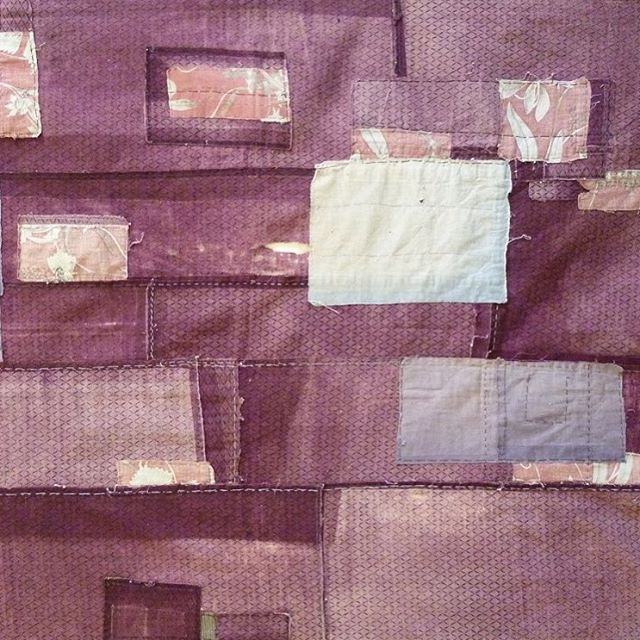 I 💛@srithreads! Dyed with purple #gromwellroot from Japan's northeast, early 20th century.