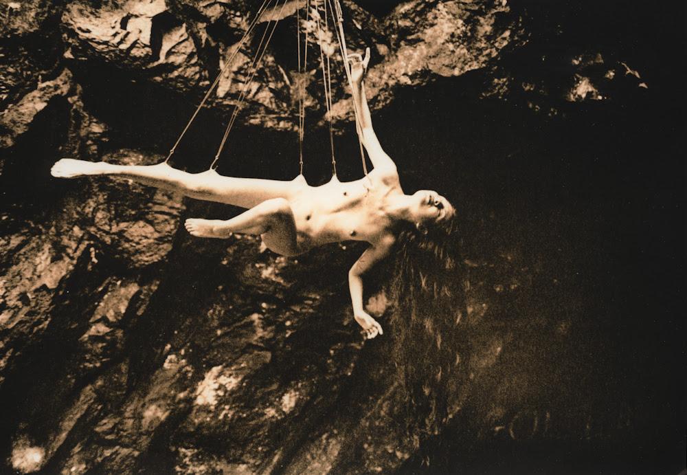flesh hook suspension, photo by Gretchen Heinel