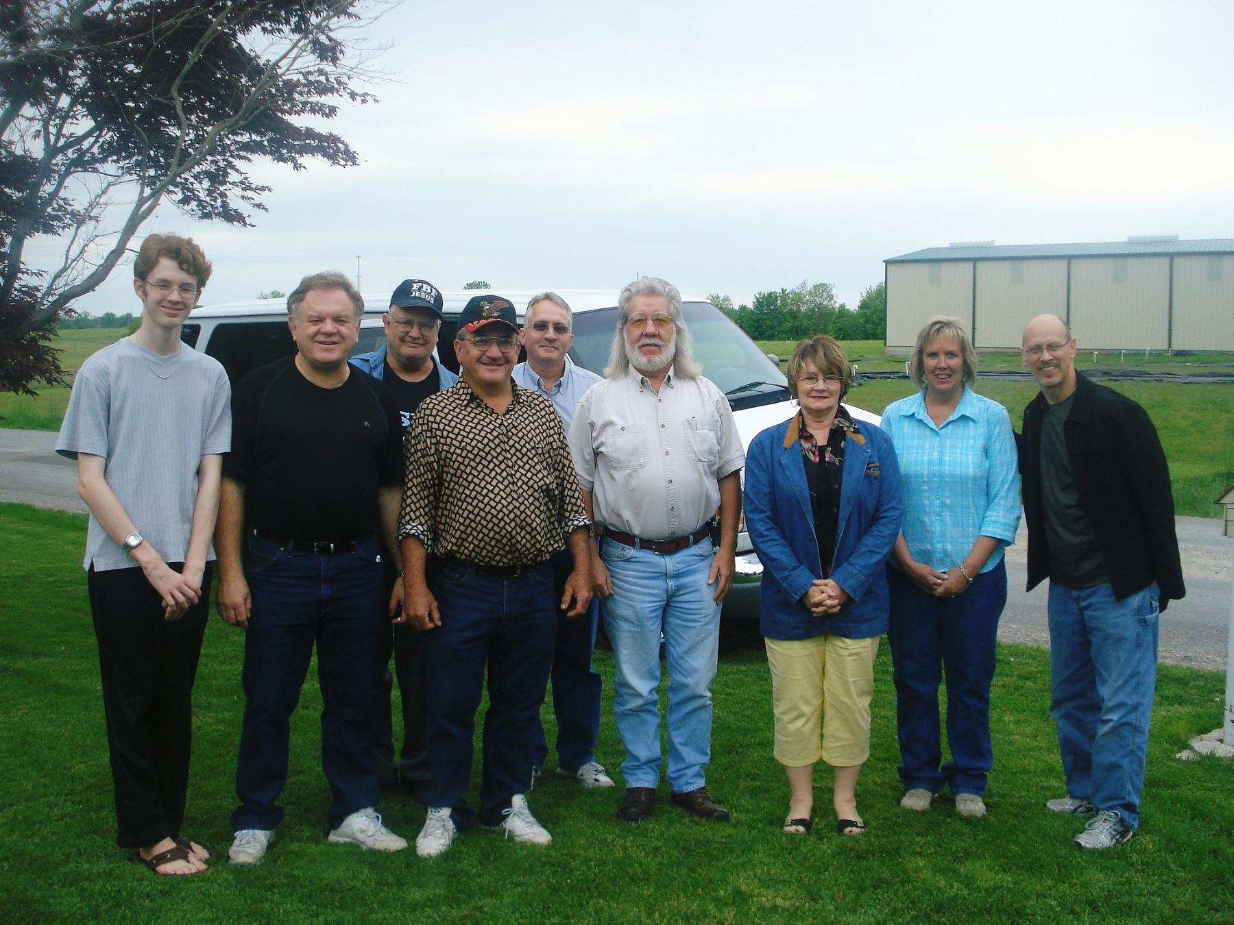 The Mississippi Mercy Road Team:(L-R) Isaac Nesbit, James Nesbit, Myron Filkins, Daniel Brown, Timothy O'Rourke, Stan Pratt, Regina Shank, Anne Crane, Kingsley Walker