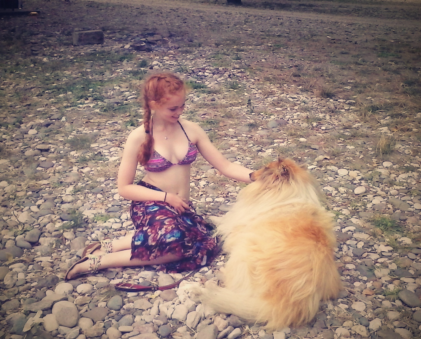 Zoe and Dog - Shared by Giulia