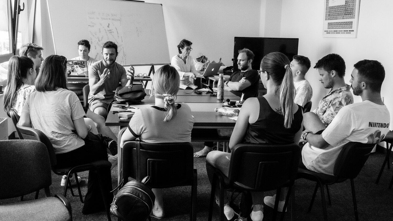 Nikola Simic talking about activisim in the LGBTQ movement in BiH /   Photo: Robert Golden