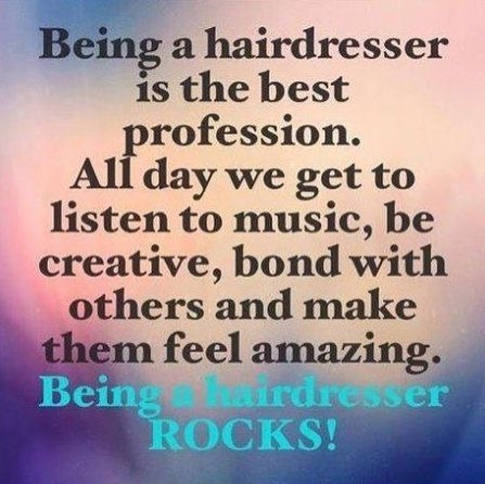I couldn't agree more! Yes there are some days the hard hat comes on but every other day my job isn't a job at all. Hope everyone has an amazing week. If your hair is in need come play with us. 916.784.1555 or message us.  #hair #916 #rosevillesalon #abeillesalonroseville #rosevilleca #Abeillesalon #abeille #salon #cutscolors #hair_squad #paulmitchell #IHeartPM #MITCHTheMan #PMTingle #Awapuhi  #daymaker #inspire #love_mvmt #neonhair #RareMarula #standoutstyle #NEUROLIQUID  #MVRCK #invisiblewear