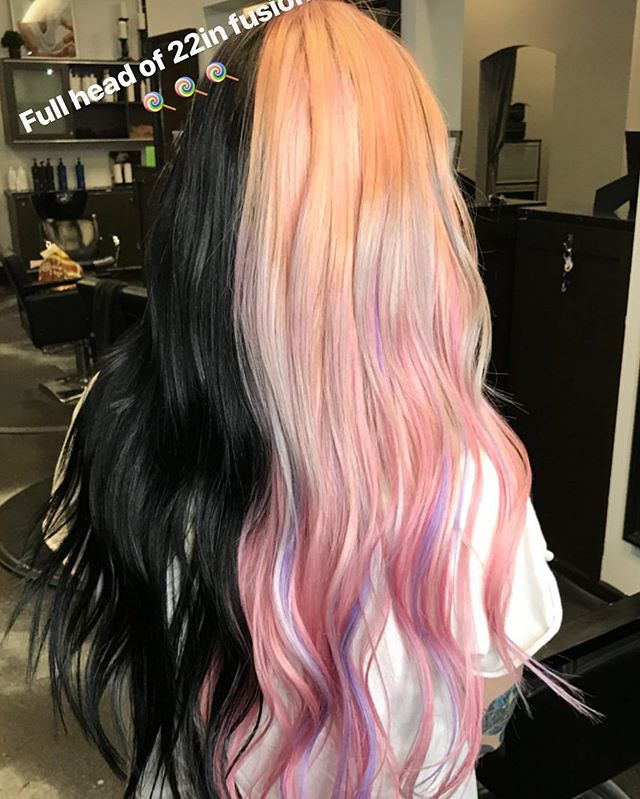 Happy Wednesday! Hope everyone is having a great week. Check this fun stuff out the stylists got to do! 🍭💇🏼♀️💆🏼♀️ #hair #916 #rosevillesalon #abeillesalonroseville #rosevilleca #Abeillesalon #abeille #salon #cutscolors #hair_squad #paulmitchell #IHeartPM #MITCHTheMan #PMTingle #Awapuhi  #daymaker #inspire #love_mvmt #neonhair #RareMarula #standoutstyle #NEUROLIQUID  #MVRCK #invisiblewear
