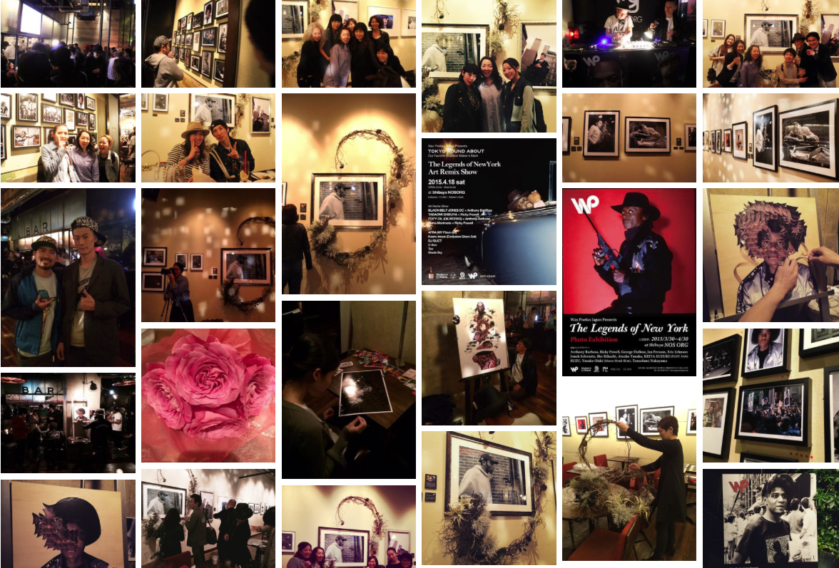 The Legends of New York  Group Exhibition  byWax Poetics Japan  @ Nos Shibuya  Opening Reception4/1/2015  & Tokyo Round About 4/18/2015