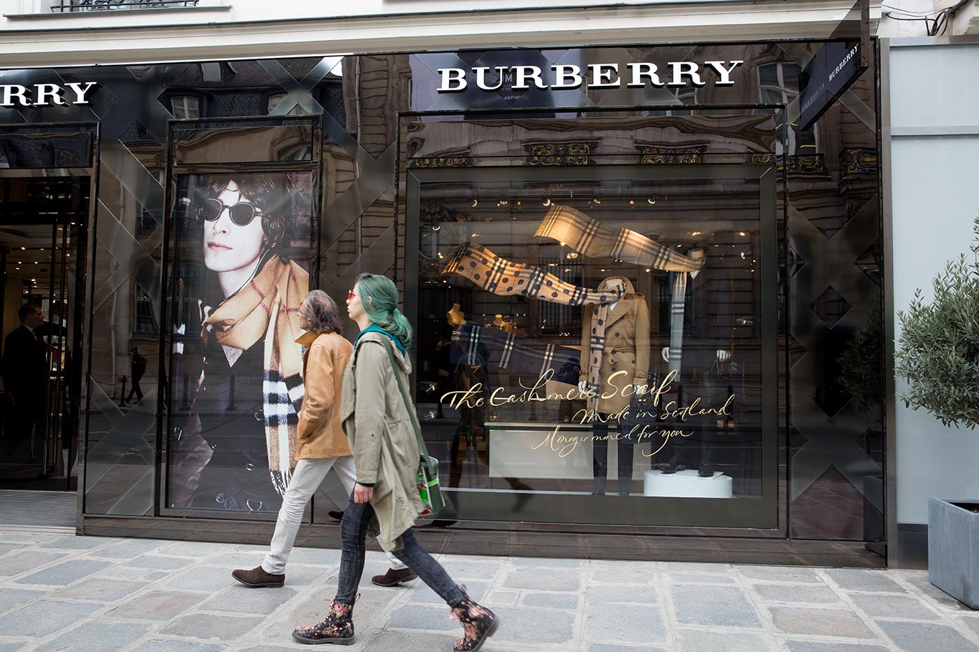 Burberry in Paris