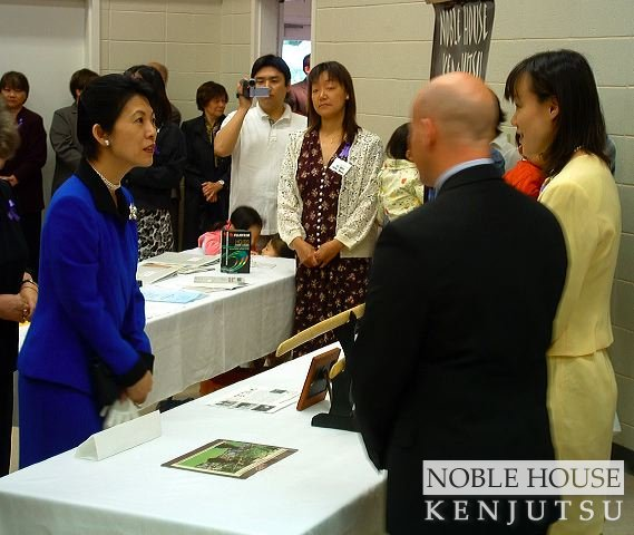 Princess Takamado meets with representatives of Noble House Kenjutsu.