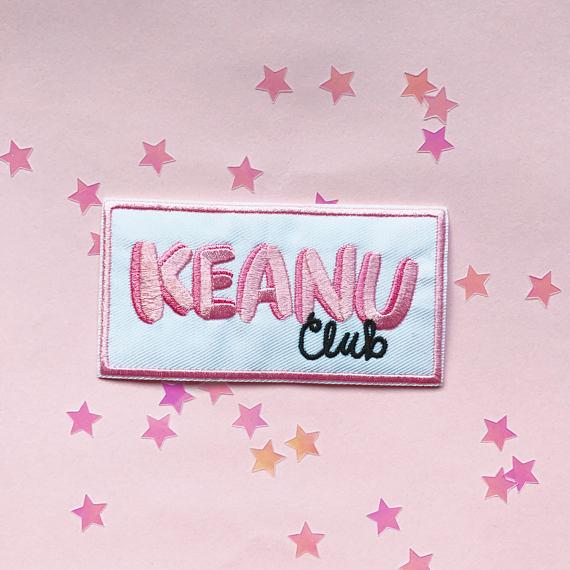 Keanu Club iron on patch