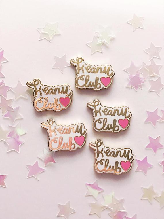 Keanu Club hard enamel pin