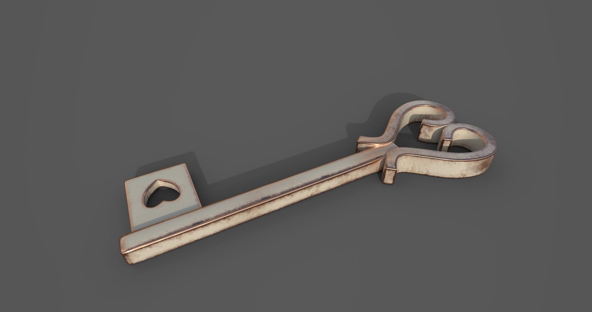 Copper Heart Key