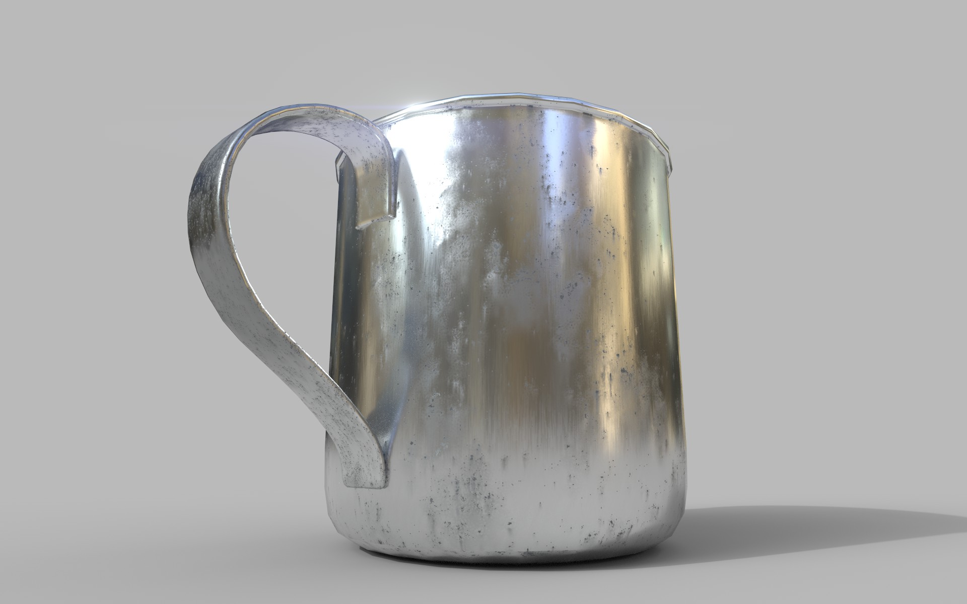 Aged Tin Cup
