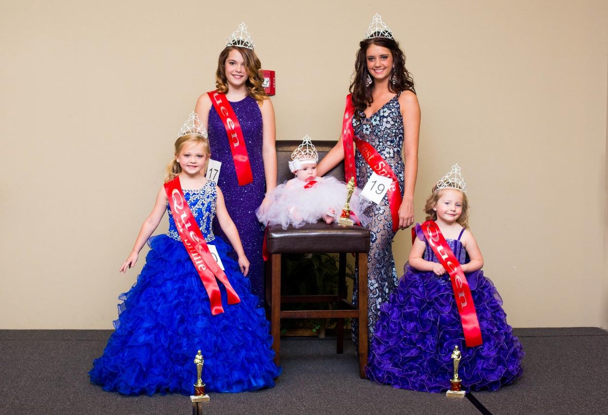 2016 Winners: (L-R)  Petite Miss Poppy:  Khylee Hanson,  Teen Miss Poppy:  Hannah Seagraves,  Baby Miss Poppy:  Georgia Grace Lowry   Miss Poppy:  Scarlett Mae Flynn,  Toddler Miss Poppy:  Rosalyn Abbott.