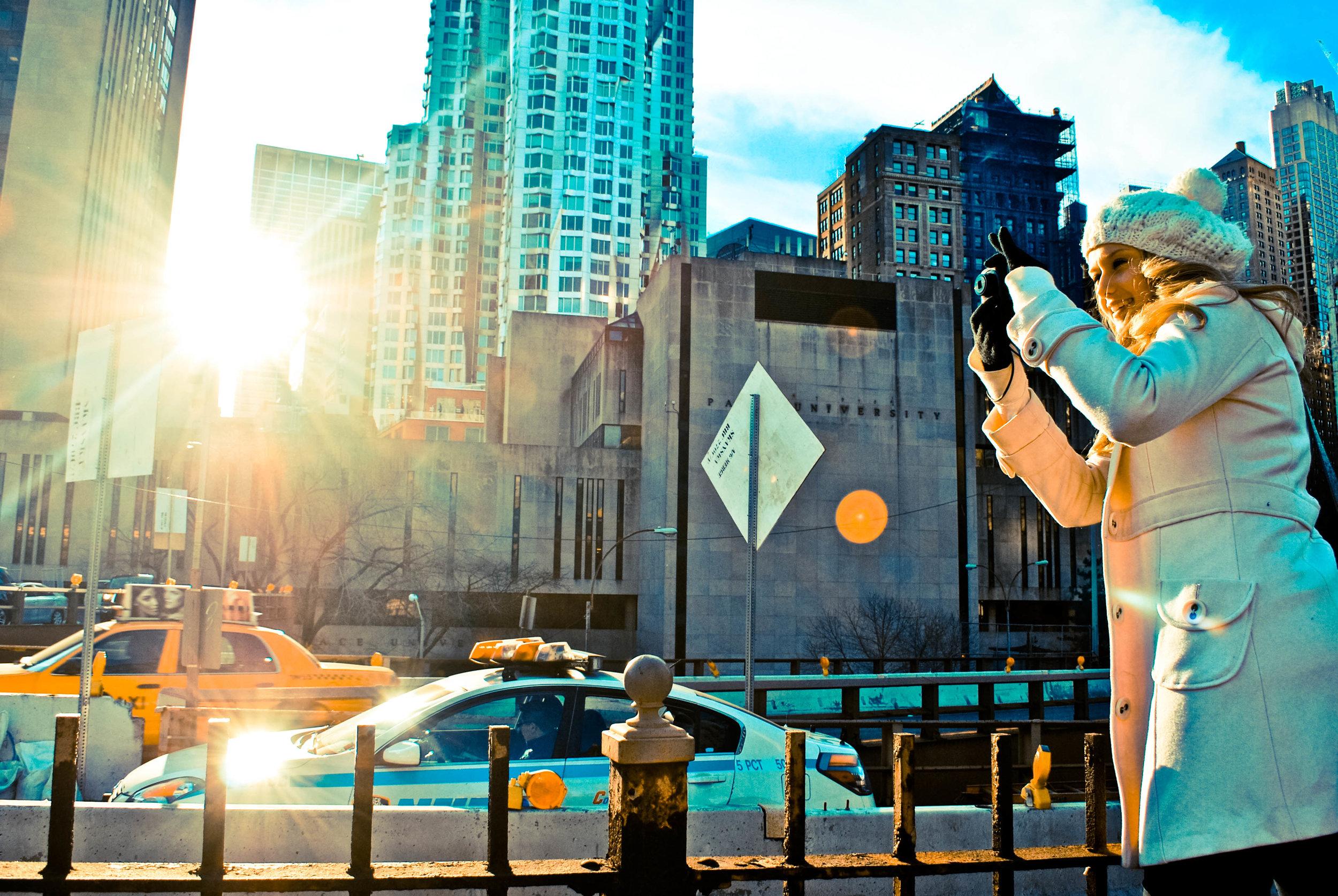 Kaci Nicole - NYE in NYC - Brooklyn Bridge Photography