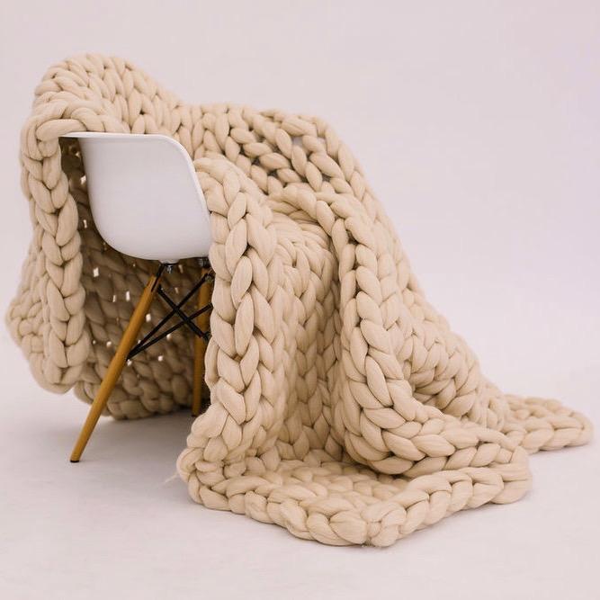 Light Tan Merino Wool Throw | Kaci Nicole.jpg