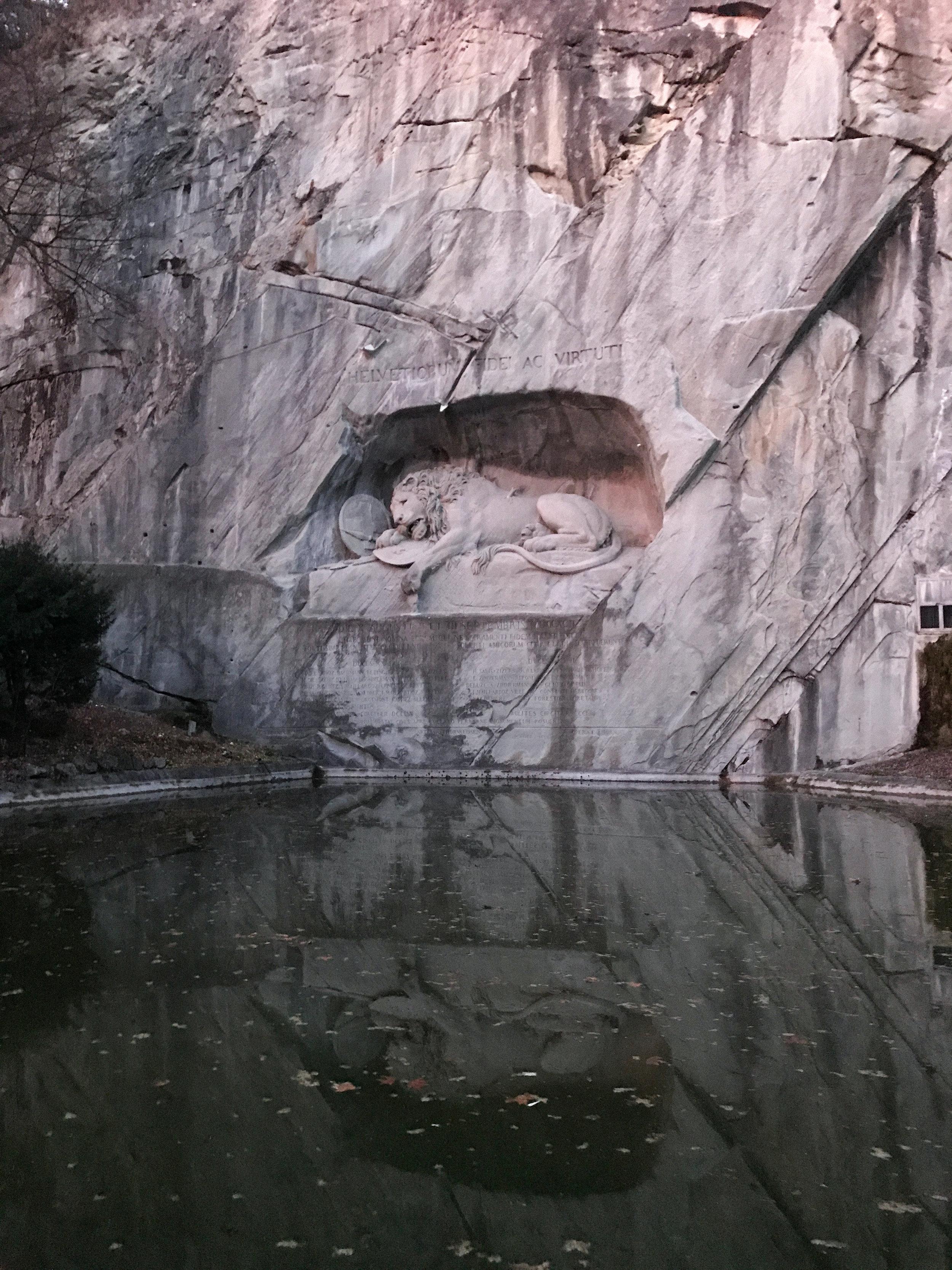 Lion Monument Lucerne | Kaci Nicole.jpg