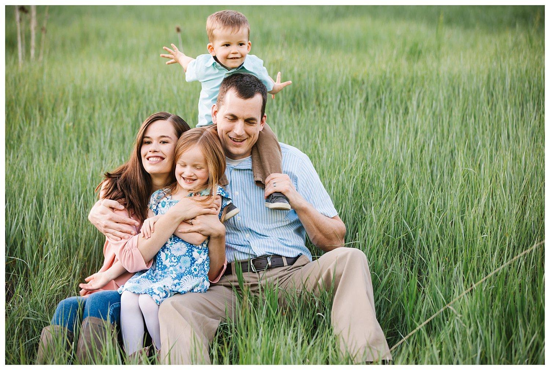 Northern Utah Family Photographer - Beautiful meadow and lake family sesison in Layton Utah