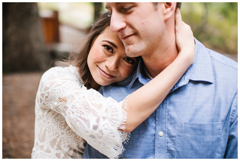 Classic Romantic Aspen Grove Utah Engagement Session