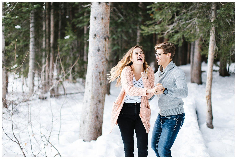 Joyful mountain engagements | Utah Wedding Photographer | Rachel Lindsey Photography