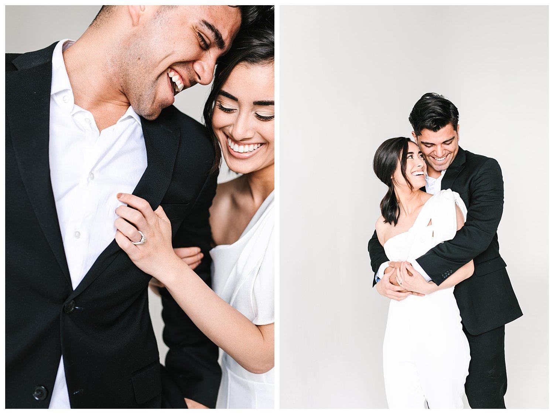 Classic and timeless  studio engagement session | Utah Wedding Photographer | Utah Engagement Photographer | Rachel Lindsey Photography