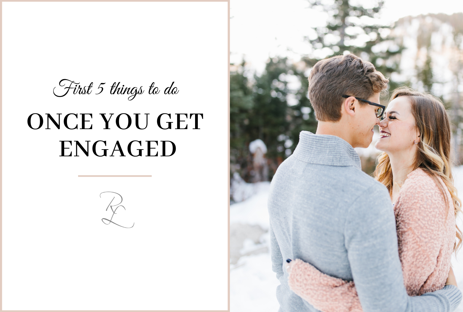Ever wondered what to do after you get engaged?? I'll walk you through the first 5 things that should be on your to-do list!