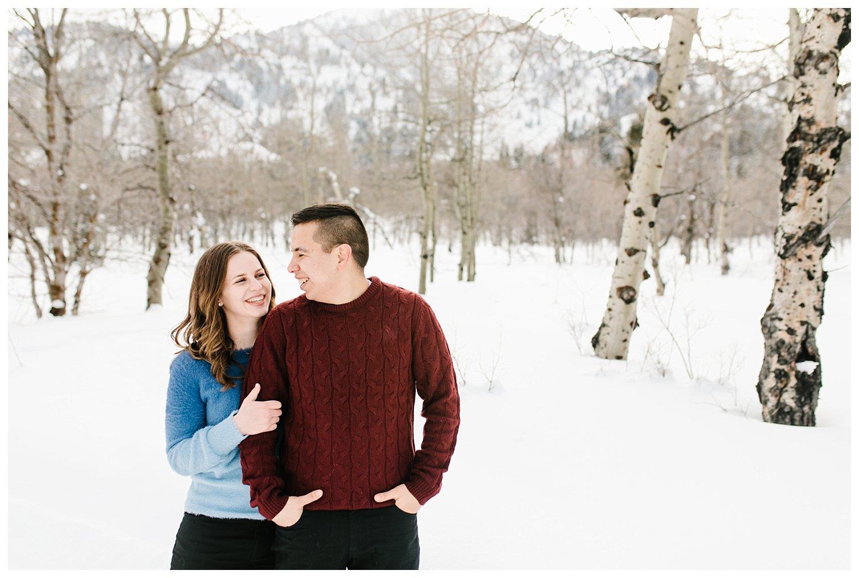 Snow Basin Winter Engagement Session | Utah Wedding Photographer | Rachel Lindsey Photography