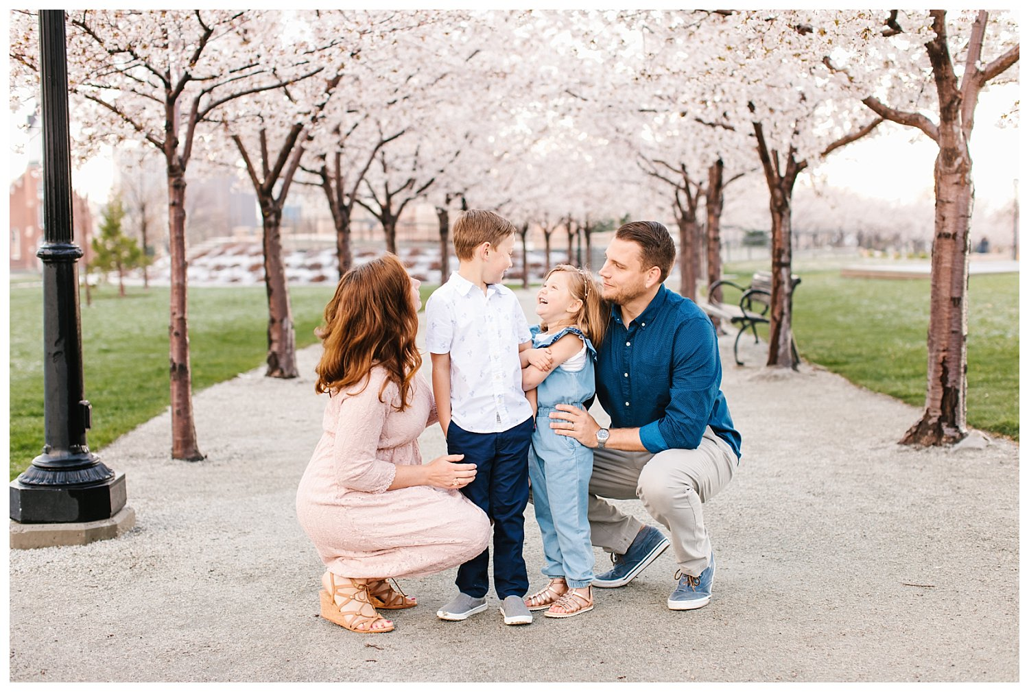 spring blossoms family session