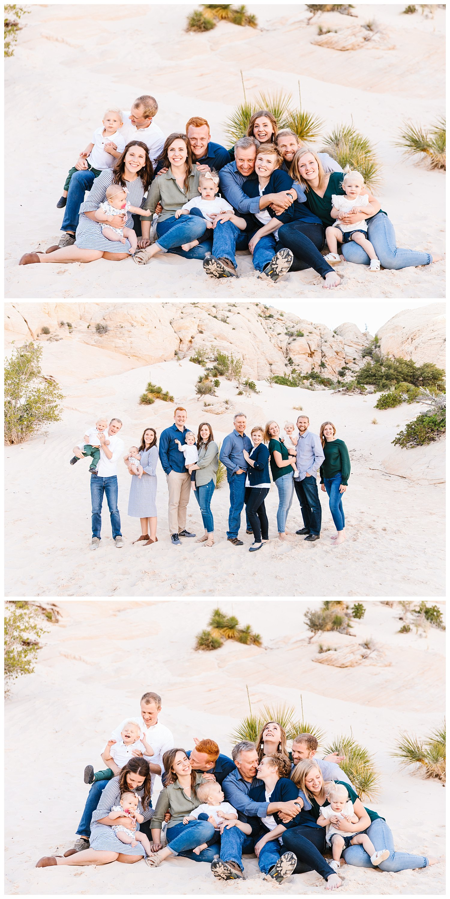 Extended Family Session in Snow Canyon Utah | Rachel Lindsey Photography