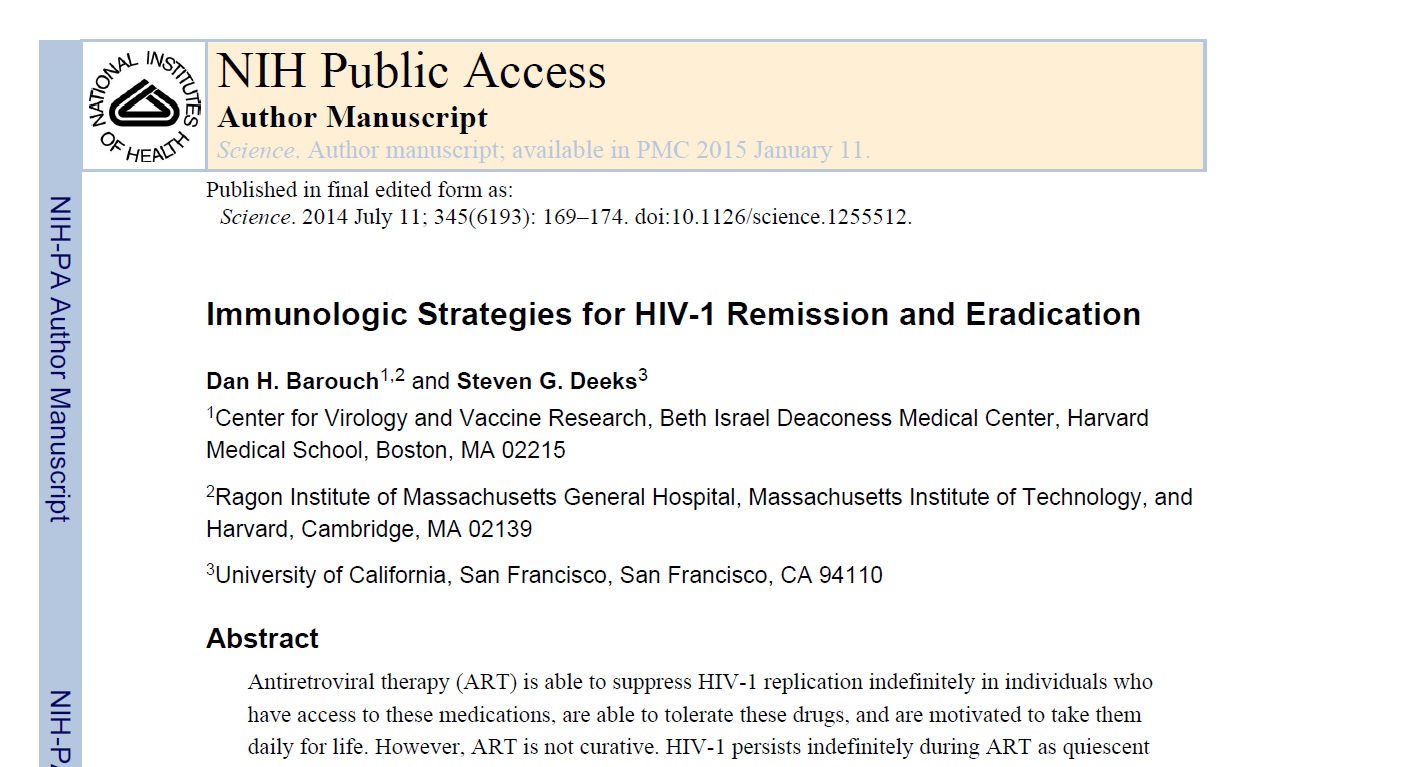 Immunologic Strategies for HIV-1 Remission and Eradication