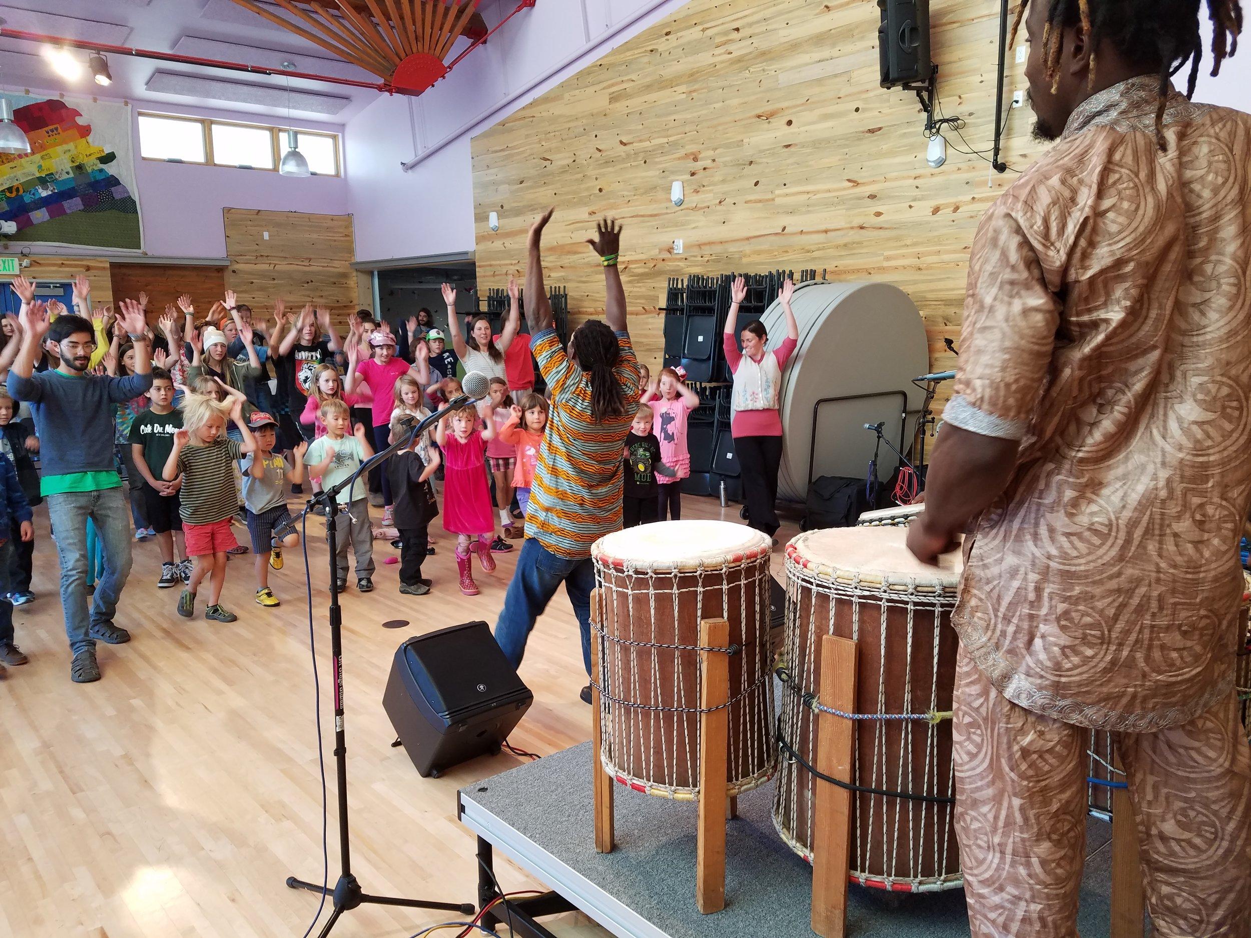 Gabriel & Soriba African Drum & Dance  @ Crestone Charter School  Fall 2016