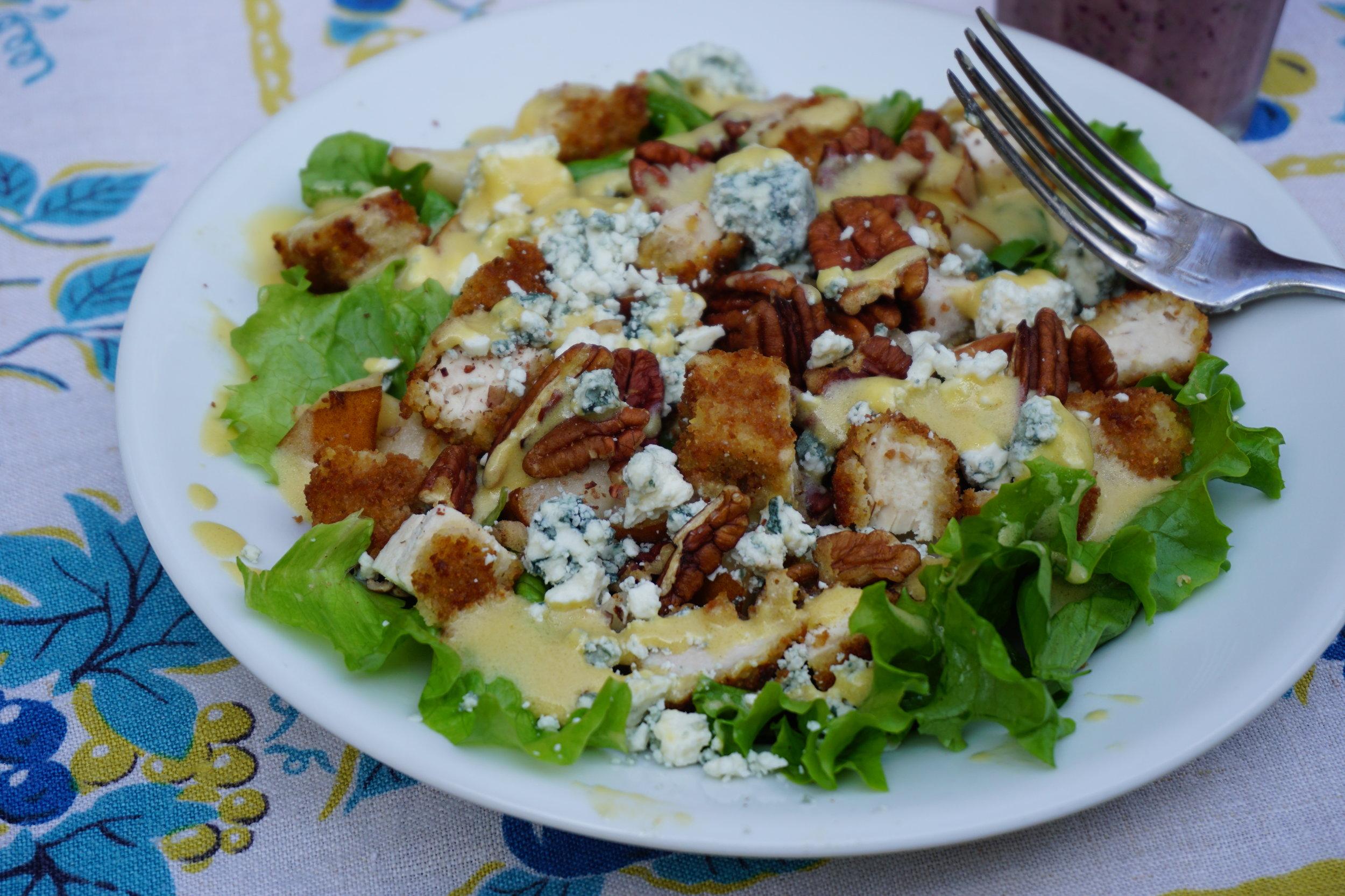 Gorgonzola, Pear, and Chicken Salad.