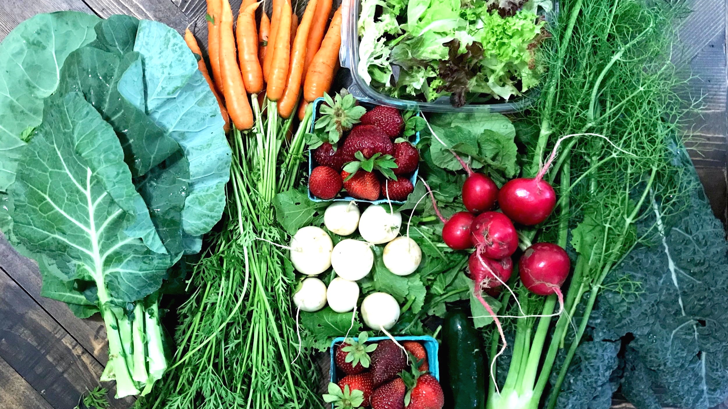 """Why join our CSA? - """"I joined the CSA to incorporate better, clean food into my diet, and I wanted to support my farmer and my community."""" -CSA member 2018"""