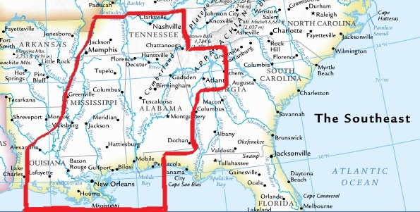 WRS serves Alabama and Mississippi, parts of Georgia, Tennessee and Louisiana