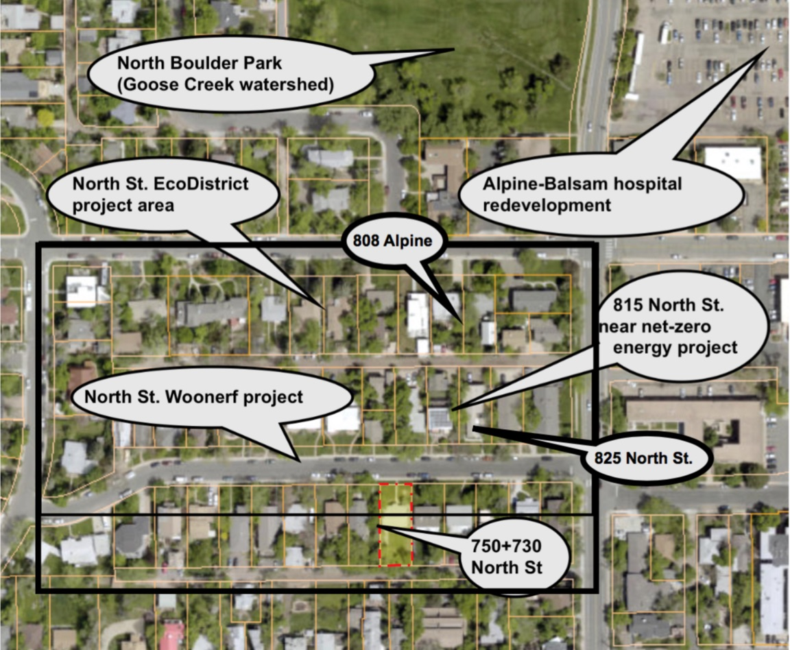 North St. EcoDistrict with existing, underway and potential projects